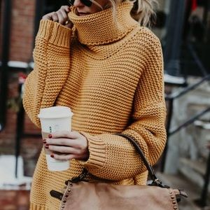Sweaters - Dijon knit sweater - turtle neck.